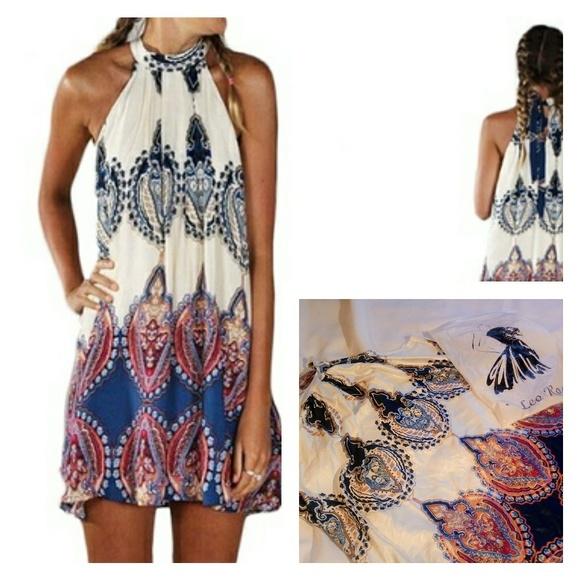 Leo Rosi Dresses & Skirts - Gorgeous Halter Dress by Leo Rosi Size XL